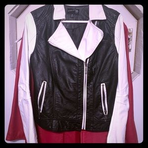 Jackets & Blazers - Black and white leather jacket